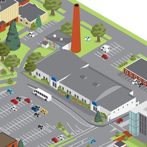 Isometric Campus Map | Made By Squirrels